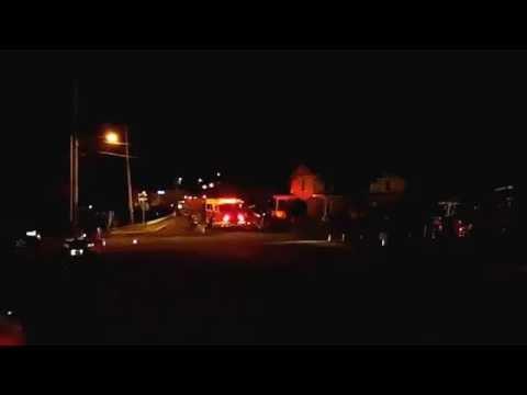 Lyons Engine and Brush 35 leaving Shoemakersville-September 10, 2016