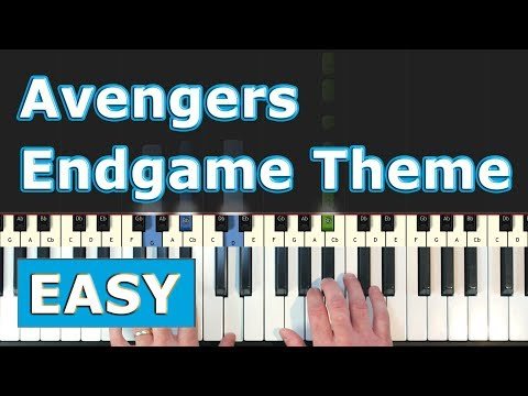Avengers 4: Endgame - Main Theme - Piano Tutorial EASY - Sheet Music thumbnail