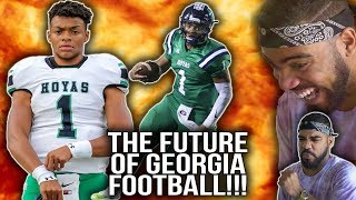 Justin Fields Senior Highlights!!! The Best Quarterback In The Country!?!?! [Reaction]