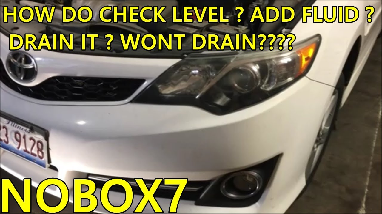 small resolution of toyota camry transmission fluid change and level check information