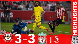 Highlights: Brentford 3-3 Liverpool | Salah scores 100th Liverpool league goal but Reds held