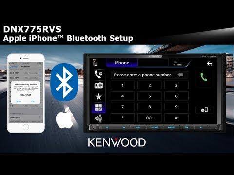 KENWOOD DNX775RVS Apple iPhone™ Bluetooth Setup