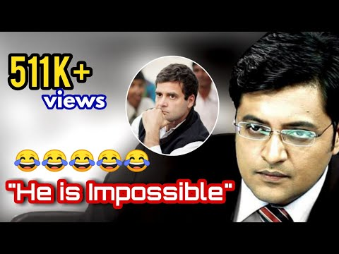 Hilarious Arnab Goswami responds on his interview with Rahul Gandhi