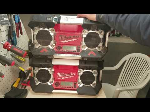 Milwaukee 12v-28v jobsite radio.