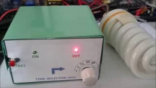 220V AC timer using IC 555 with time selector دائرة تايمر لكهرباء المتردد