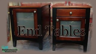 How To Make 2 End Tables & Plans