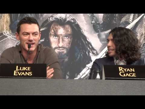 Luke Evans on being human in The Hobbit & Ryan Gage on auditioning for every role in the film