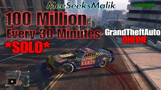 *SOLO* GTA ONLINE Money Glitch 100 Million Every 30 Minutes After Patch