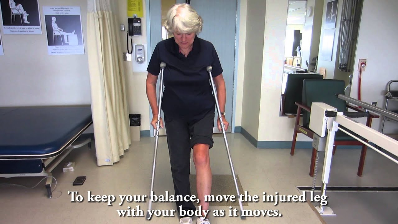 How To Use Crutches Non Weightbearing Youtube