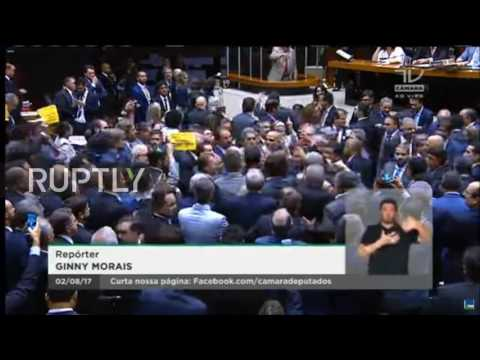 Brazil: Scuffles between govt. allies and opposition in Lower House