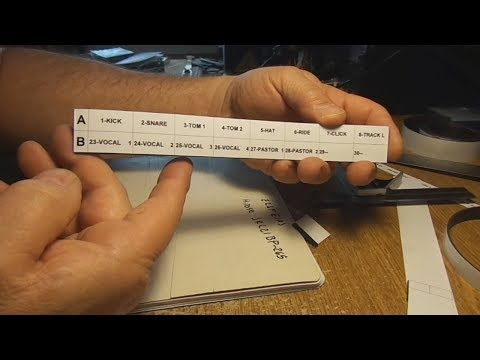 MAGNETIC LABELS for mixing consoles
