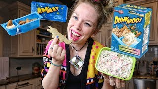 Can I Recreate DUNKAROOS? - Bunny's 90s KITCHEN!