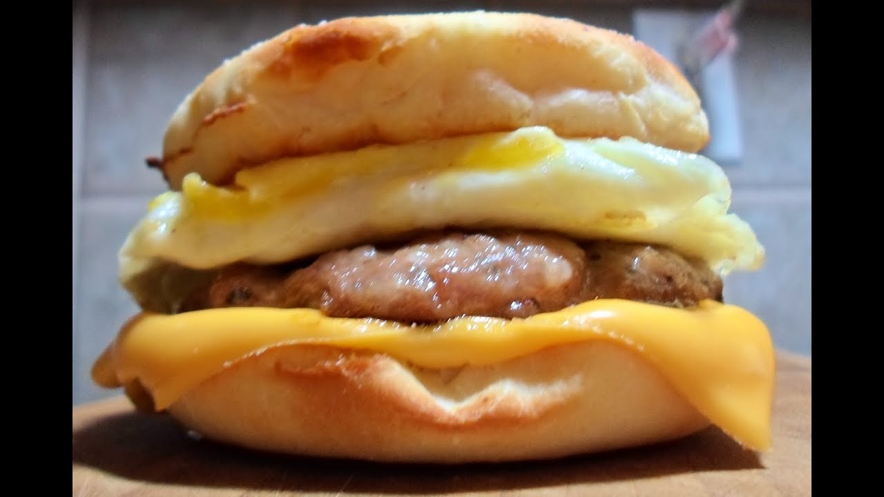 How to make Sausage McMuffin with Egg - Easy Cooking! - YouTube