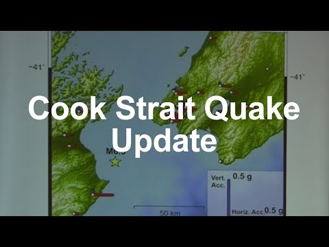 Cook Strait earthquakes, science update