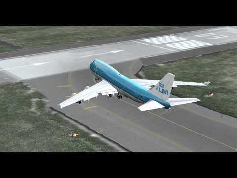FSX- PMDG 747-400x KLM- EHAM(Amsterdam)/TNCM(St Maarten