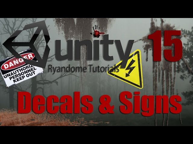 Custom Decals and Signs  How to make a Horror Game 3 Unity 3D