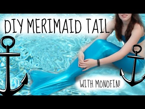 DIY Swimmable Mermaid Tail- How to make a Fin Fun Inspired Tail + Monofin for less than $20!!