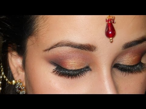 Exotic Arabic Bridal Smokey Eyes ~ Bridal makeup Collaboration