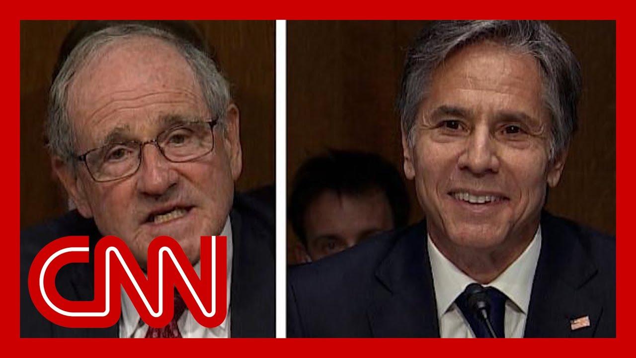 Download Blinken cracks up at hearing over GOP senator's conspiracy theory