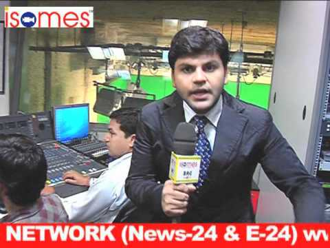 ISOMES students in NEWS 24 Studio for practical session ( 7 )