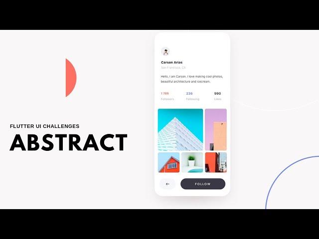 FlutterUI - Minimal Designs - Profile