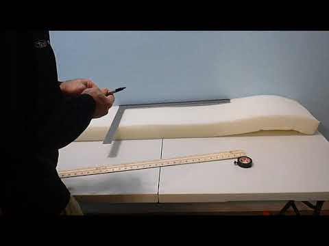 How to cut replacement foam for cushions
