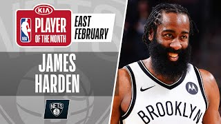James Harden Is The #KiaPOTM For February | Eastern Conference
