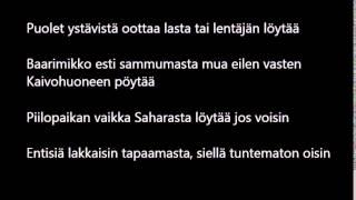 Titta - Maailma loppuu tänään Lyrics / Sanat
