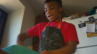 Boy uses talent for baking to help others