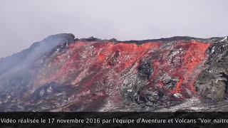 ETHIOPIA - Erta Ale volcano overflows, collapses inside caldera