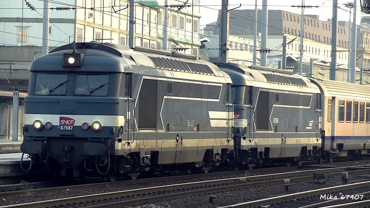 french diesel locomotives sound 1 sncf class cc72000 bb67400 youtube. Black Bedroom Furniture Sets. Home Design Ideas