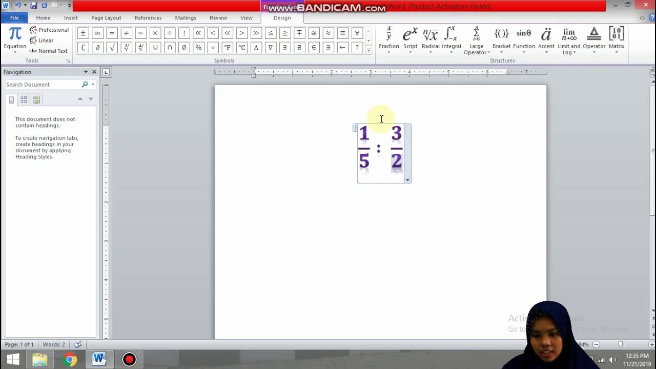 Beginilah!!!Cara penggunaan rumus matematika di microsoft word - YouTube