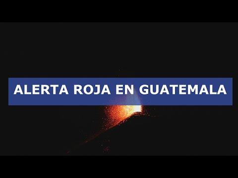 Alerta roja por la erupción del volcán de Fuego al sur de Guatemala