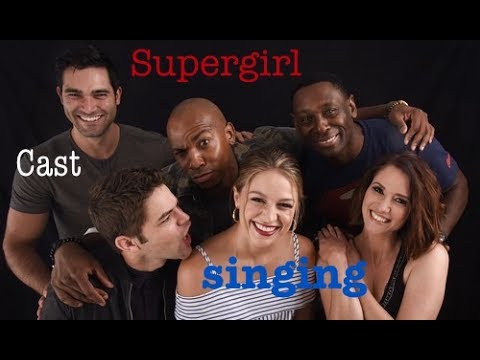 Supergirl Cast singing