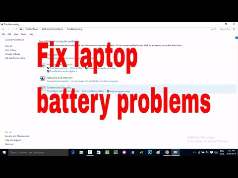 How to laptop fix battery problems like not showing