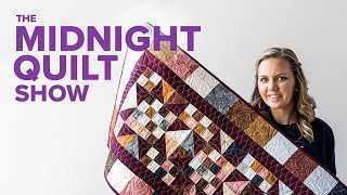 Stash Busting Quilted Table Runner! | S7E6 Midnight Quilt Show with Angela Walters