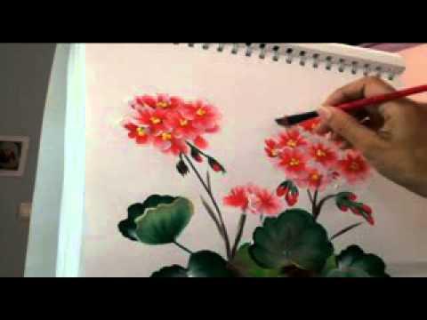 Dibujos para pintar flores de primavera en linea - YouTube