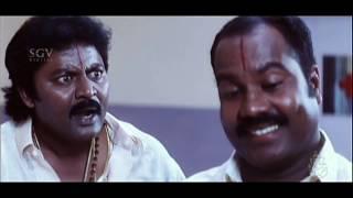 Malashree Hits | Marigudi Brother Fight In Hospital Kannada Scenes | Durgi Kannada Movie