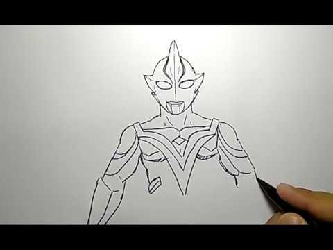 Cara Menggambar Ultraman Dengan Mudah Sekali How To Draw Ultrama