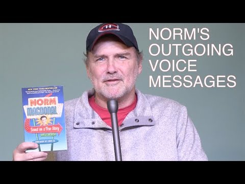 """Norm Macdonald records outgoing voicemail messages for fans   """"Based on a True Story"""""""