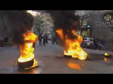 Berri supporters block main road