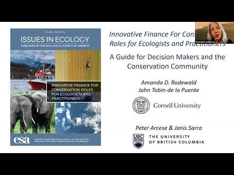Issues in Ecology #22: Innovative Finance for Conservation