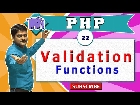 PHP Video Tutorial 22 - PHP Validation Functions In PHP