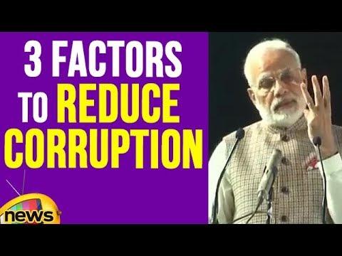 PM Modi Talks About 3 Factors That Helped To Reduce Corruption | Mango News