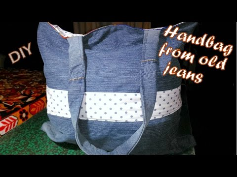 How to make a handbag from old jeans thumbnail
