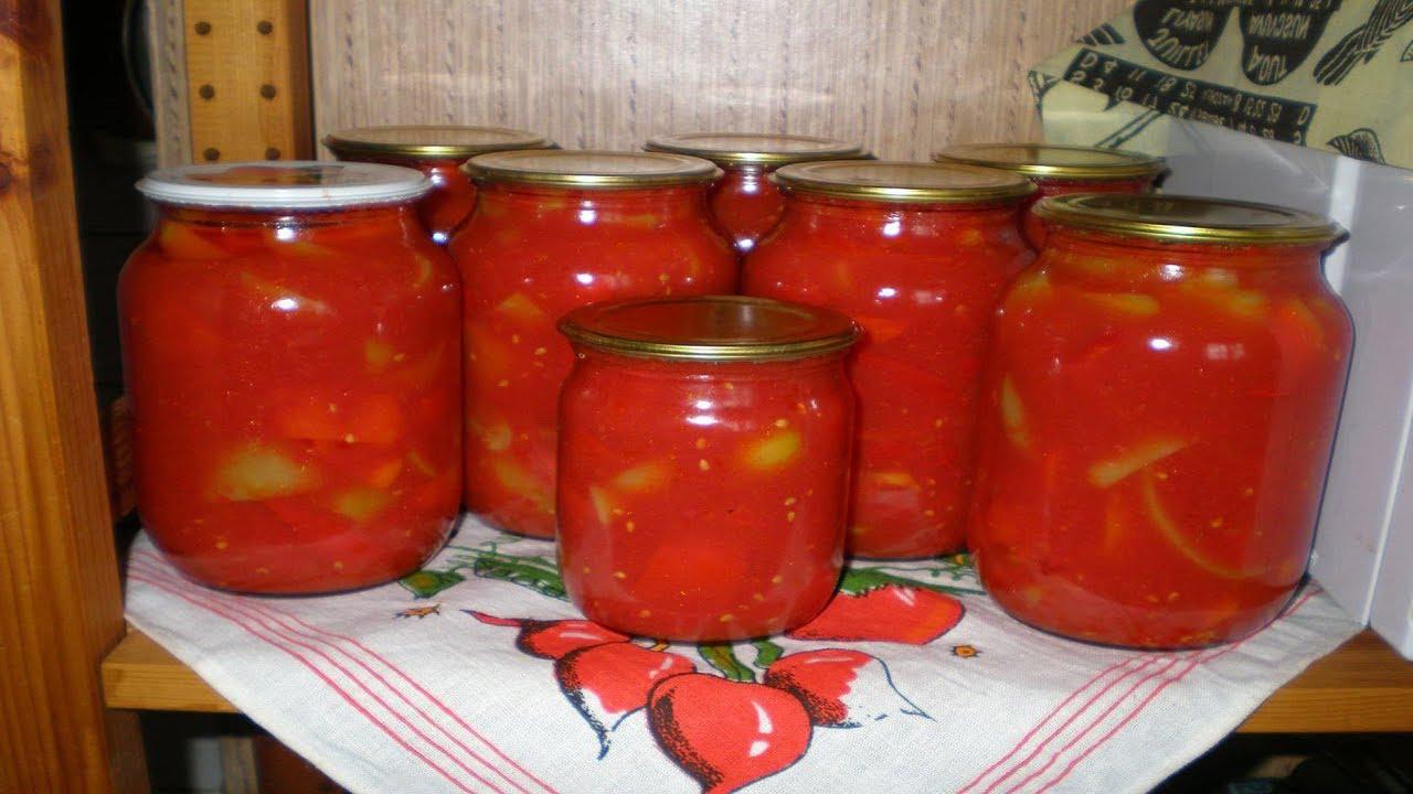 лечо с томатной пастой с морковкой и луком
