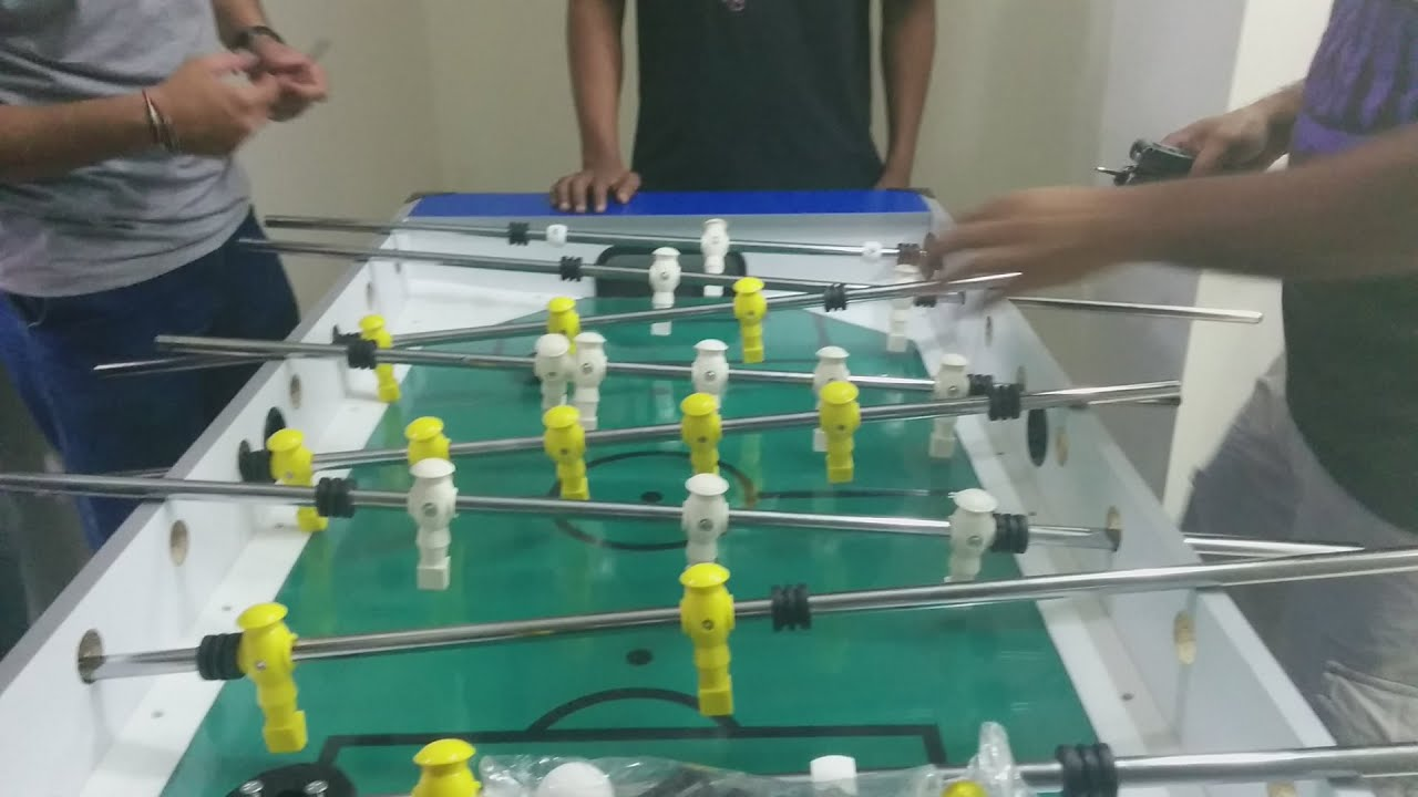 & Assembly Of Foosball Table | Time Lapse - YouTube