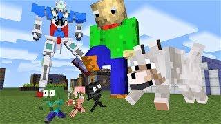 Monster School : GIANT BALDI BEANSTALK : Funny Minecraft Animation