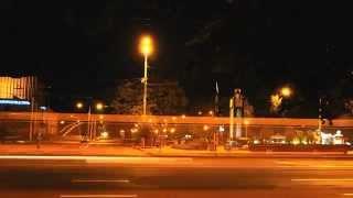 Запорожье, бульвар Шевченко, ночь