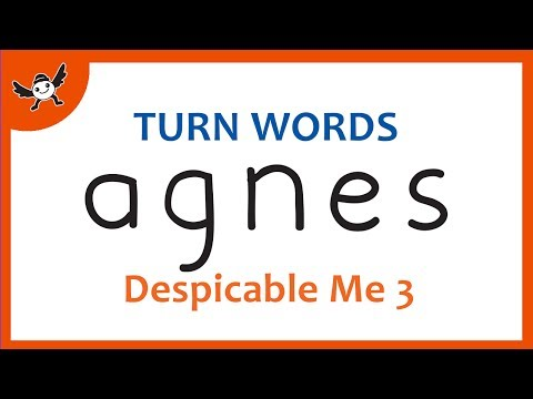 Despicable Me 3  How To Turn Words AGNES into Cartoons for Kids – Wordtoons 100 ✔